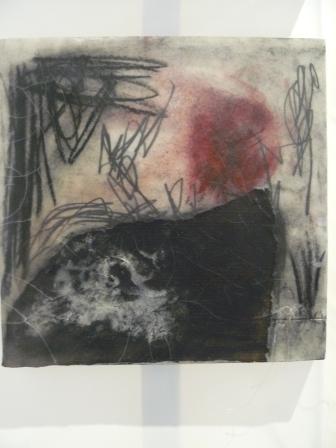 pierre noire, collage ,graphite